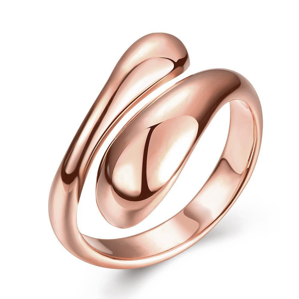 Rose Gold Plated Matrix Cut Adjustable Ring