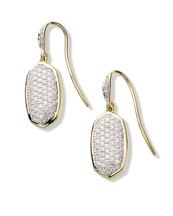 Made with Swarovski Crystal 18K Gold Pave Drop Earrings