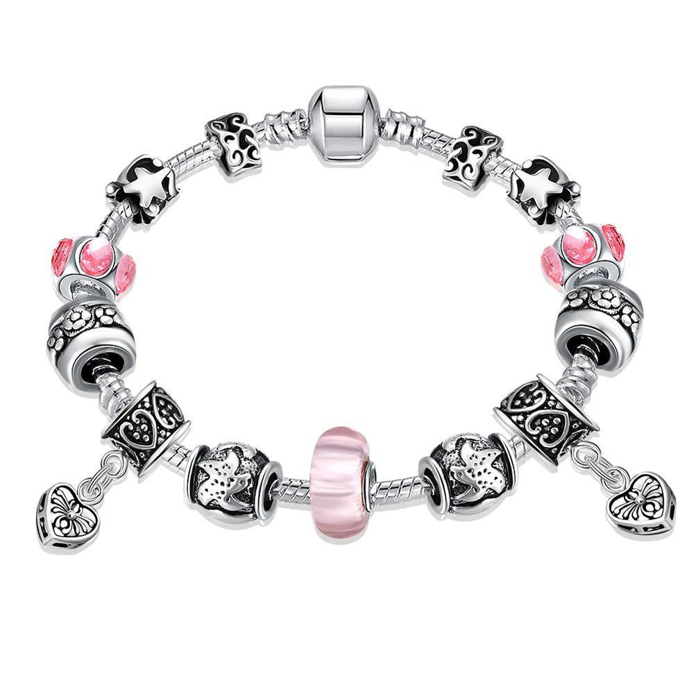 Starfish and Hearts Pandora Inspired Bracelet Made with Swarovski Elements