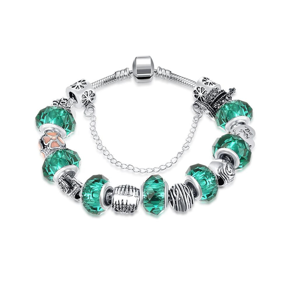 Green Meadows Pandora Inspired Bracelet Made with Swarovski Elements