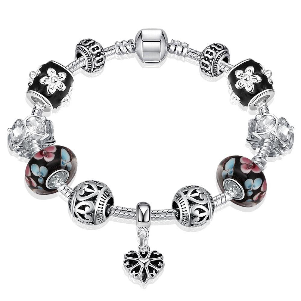 Flower Petals Bracelet Made with Swarovski Elements