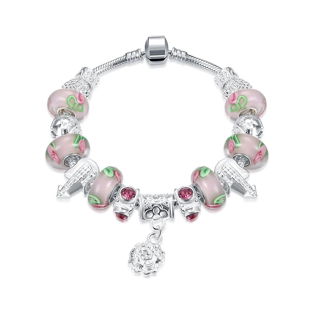 Apple Candy Pandora Inspired Bracelet Made with Swarovski Elements