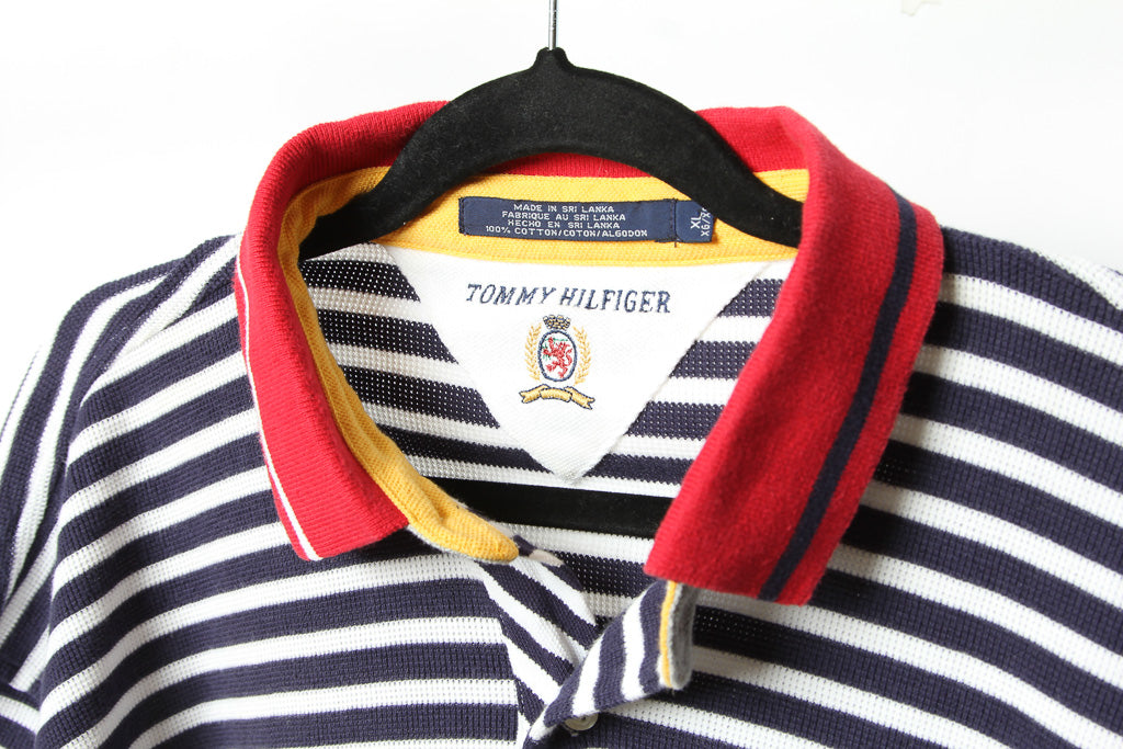 e39366b80 TOMMY HILFIGER STRIPED CREST BUTTON – Oyabun
