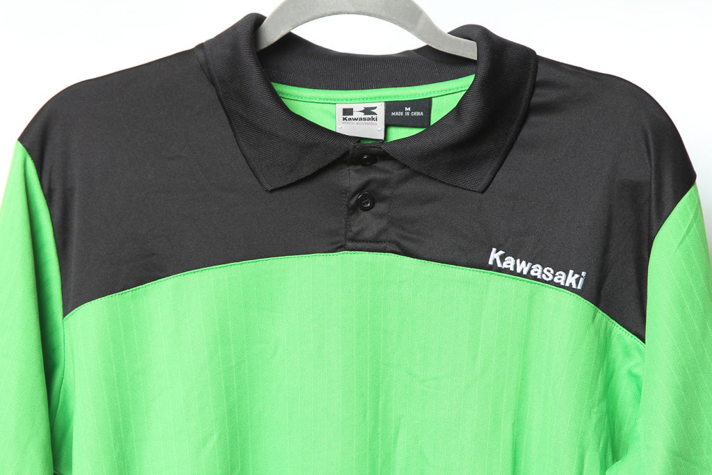 29b82483a KAWASAKI OFFICIAL BUTTON TEE – Oyabun