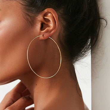 "(3"") Gold Plated Hoop Earrings"