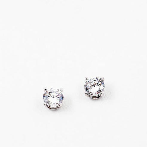 (CZ) AnChus 10mm Round CZ Stud Earrings