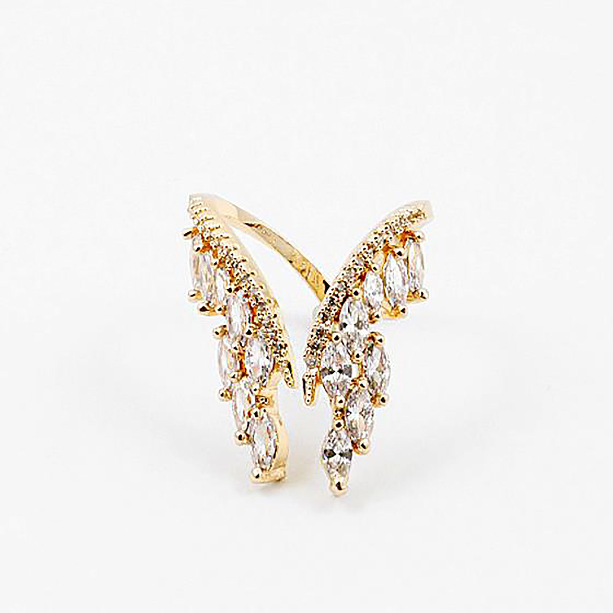 CZ Wing Adjustable Ring