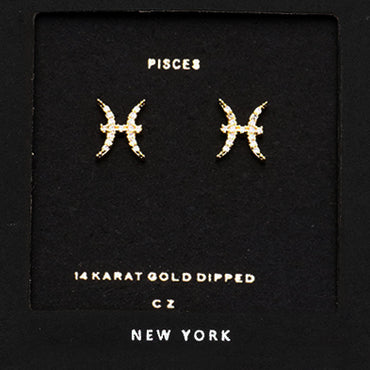 PISCES CZ Star Earrings