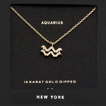 AQUARIUS CZ Star Necklace