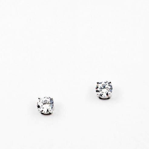 (CZ) AnChus 5mm Round CZ Stud Earrings