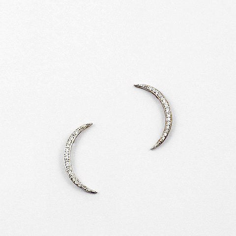 White Gold Dipped Earrings