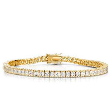 Princess Cut  CZ Link Bracelet