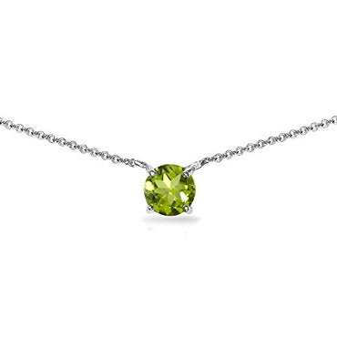 (6mm) Sterling Silver Birthstone Choker Necklace