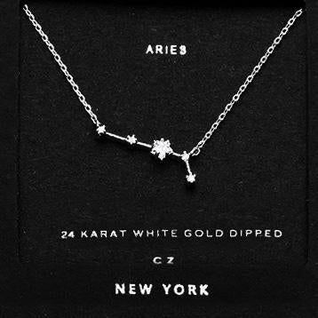 ARIES CZ Star Necklace
