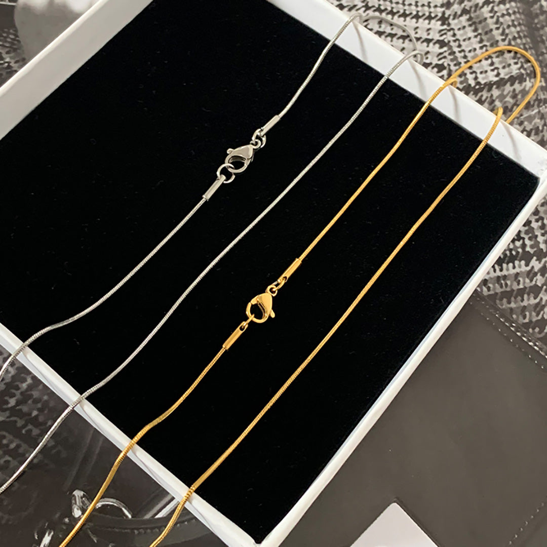 18K Gold Dipped Choker Necklace