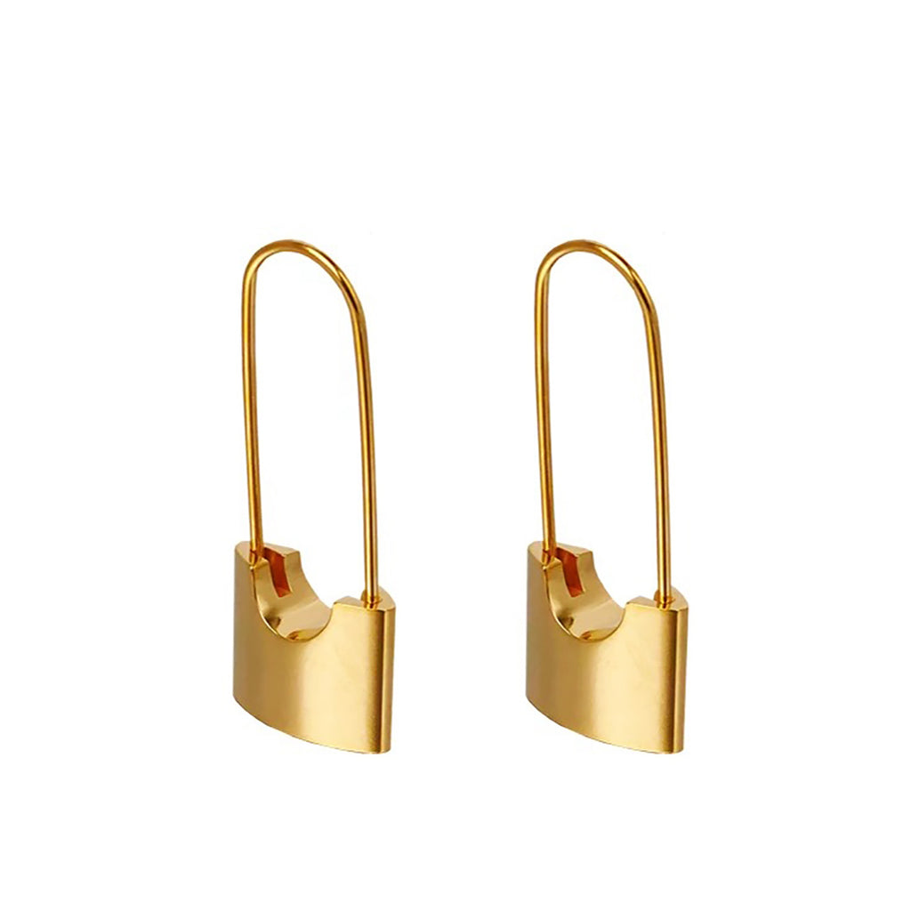 18K Gold Plated Pin Hoop Earrings