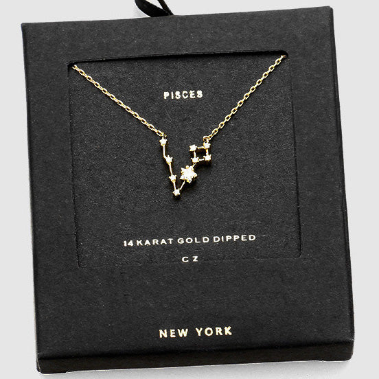 PISCES CZ Star Necklace