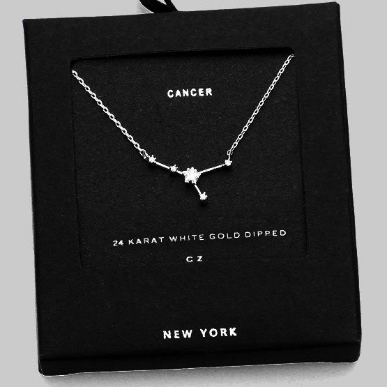 CANCER CZ Star Necklace