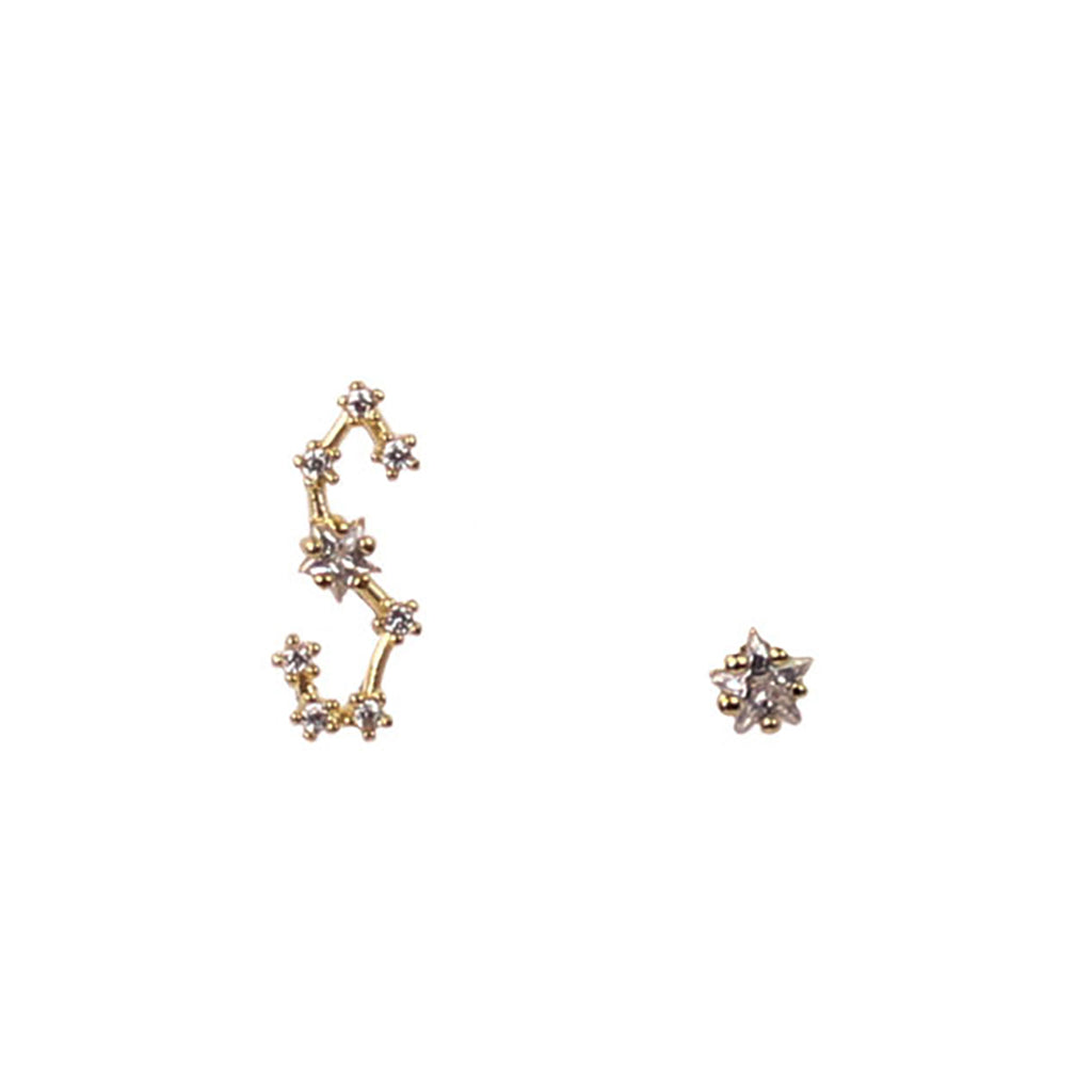 SCORPIO CZ Star Earrings
