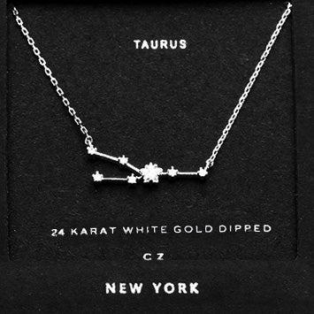 TAURUS CZ Star Necklace