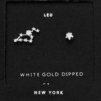 LEO CZ Star Earrings