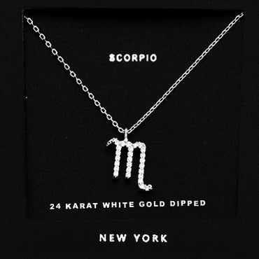 SCORPIO CZ Star Necklace