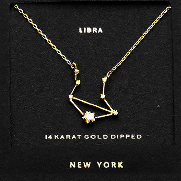 LIBRA CZ Star Necklace