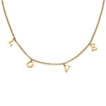 Personalized Initial Necklace - 14K Gold Dipped