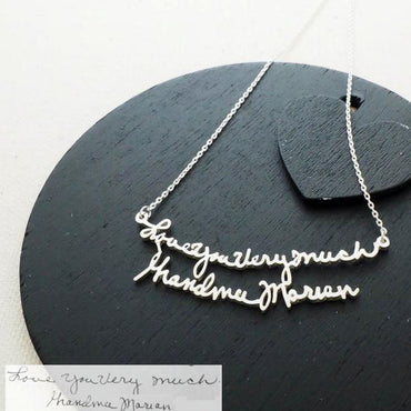 (Personalized) Handwriting Necklaces