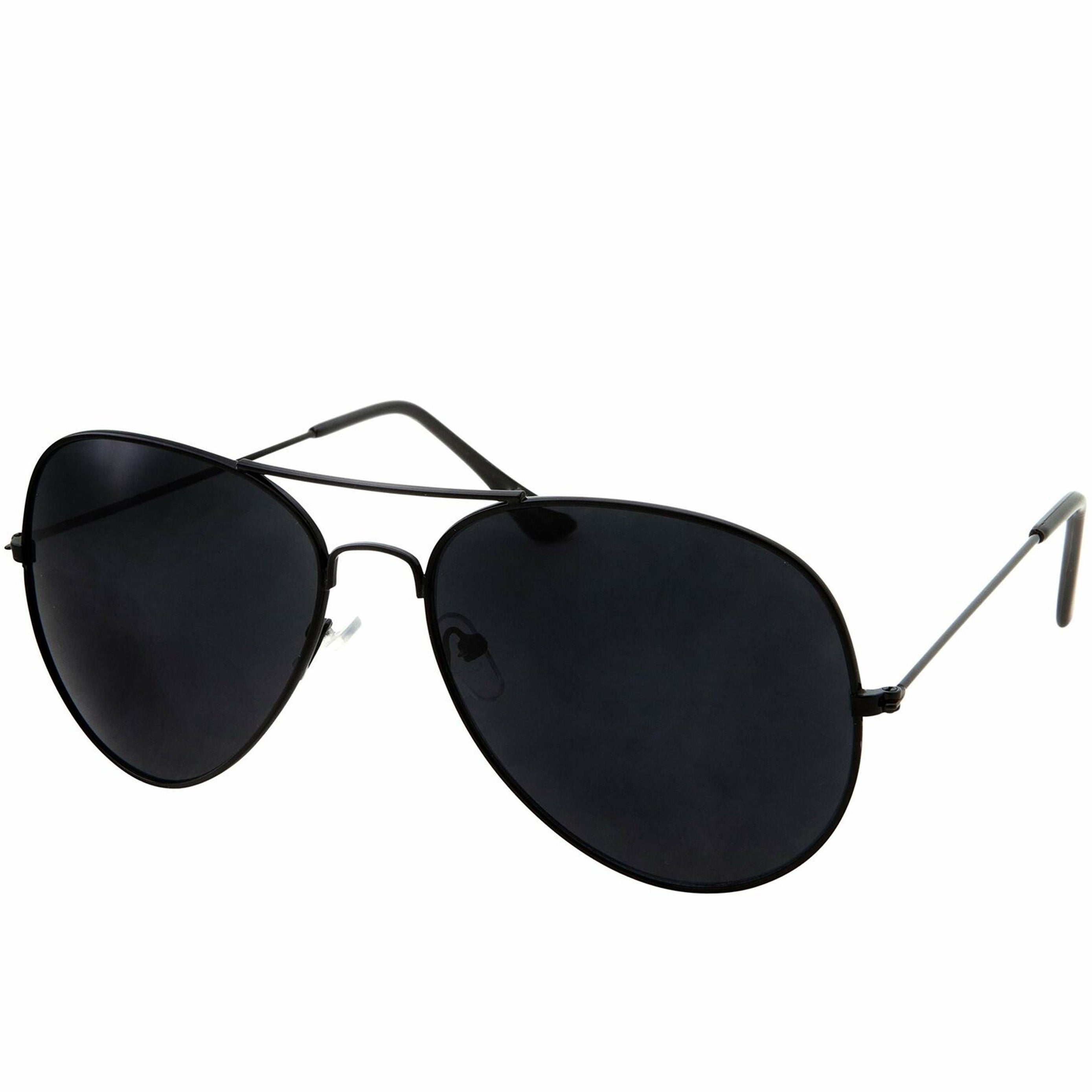 Oversized - 60mm Super Dark Lens Limo Tint Pilot Sunglasses - Men and Women Privacy Sunglasses