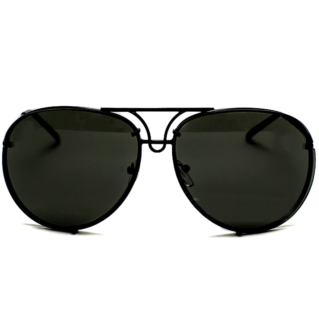 "Oversized - 61mm MIRROR ""Posche"" OVERSIZED Women Sunglasses Aviator Flat Top"