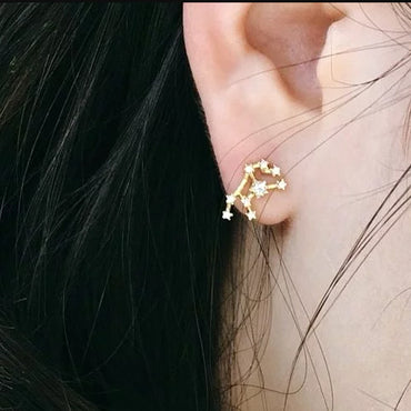VIRGO CZ Star Earrings