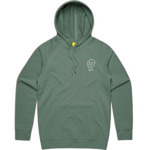 Sage Embroidered Logo Hoodie - PRE-ORDER - Ky&Co Australia