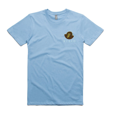 Ky & Co Classic Tee - Wet Skies Blue - Ky&Co Australia