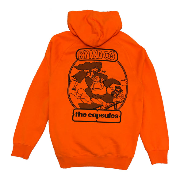 Taking Care of (monkey business) X The Capsules Orange Hoodie - Ky&Co Australia