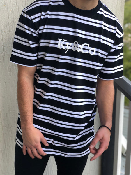 Ky&Co Black & White Striped Tee - Ky&Co Australia