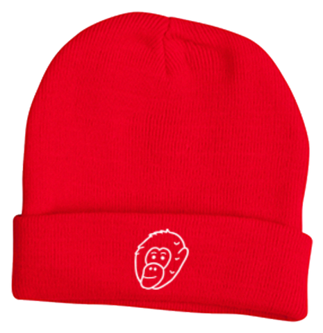 Red Embroidered Gerry Beanie - Ky&Co Australia