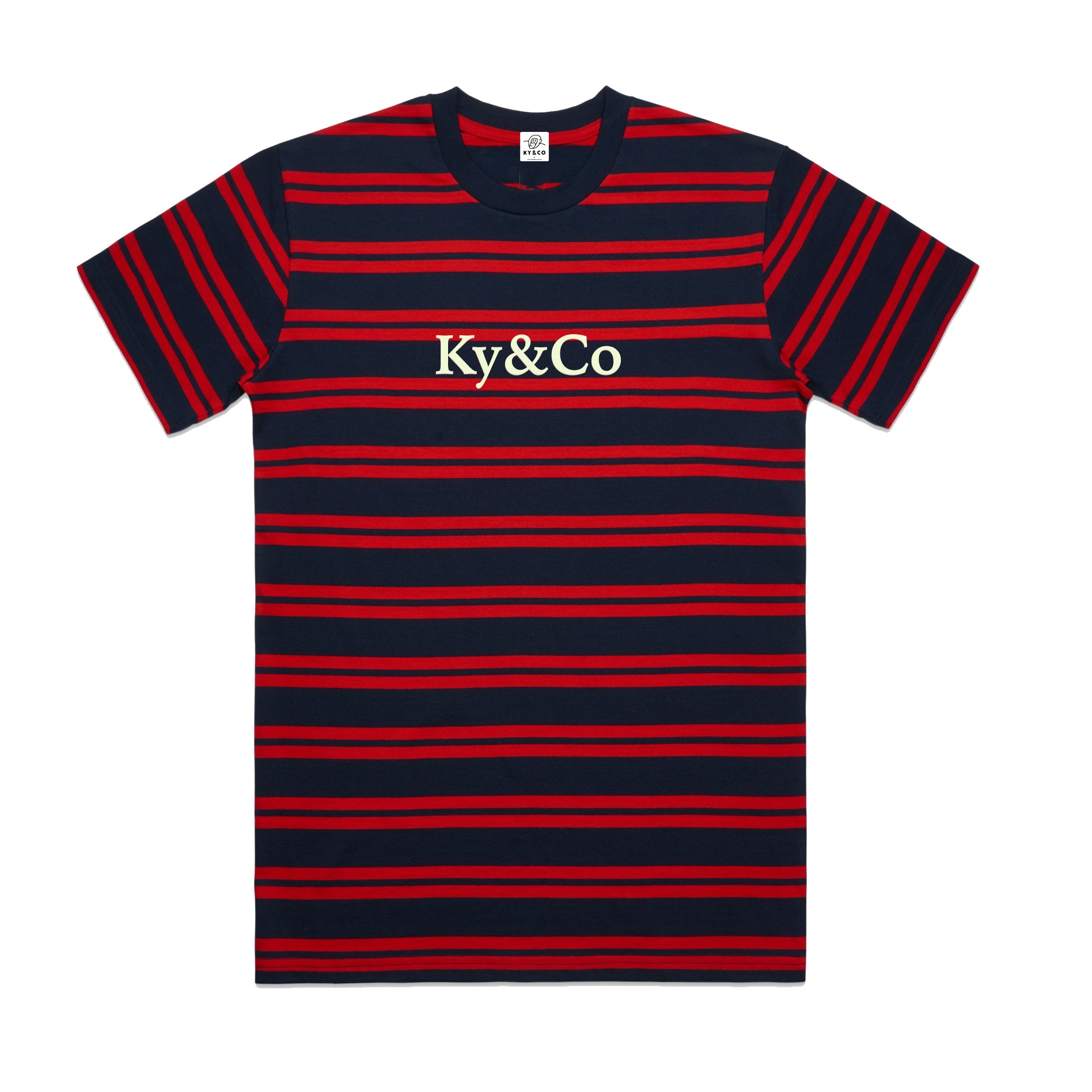 Ky&Co Navy & Red Striped Tee - Ky&Co Australia
