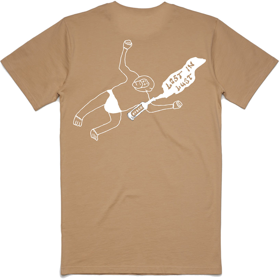 Lost in Lust Tan Tee