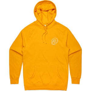 Yellow Embroidered Logo Hoodie - Mid Weight - Ky&Co Australia