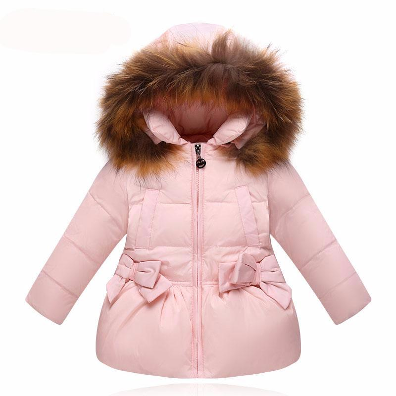 85a035b46 Winter Jacket Kids Warm Hooded Children Outerwear for Boys Girls ...