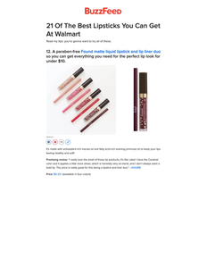 21 Of The Best Lipsticks You Can Get At Walmart