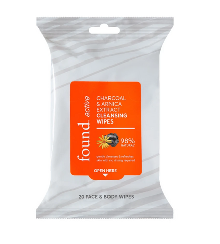 Discover Found Charcoal & Arnica Extract Cleansing Wipes