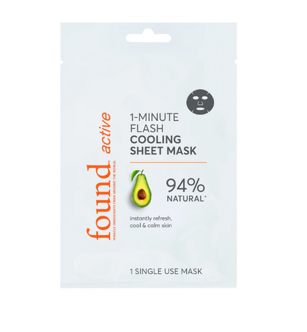 Active 1-Minute Flash Cooling Sheet Mask, 3 Pack