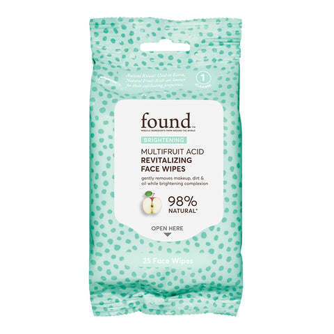 BRIGHTENING MULTIFRUIT ACID REVITALIZING FACE WIPES