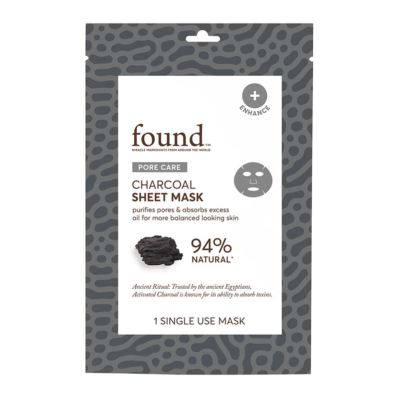 PORE CARE CHARCOAL SHEET MASK