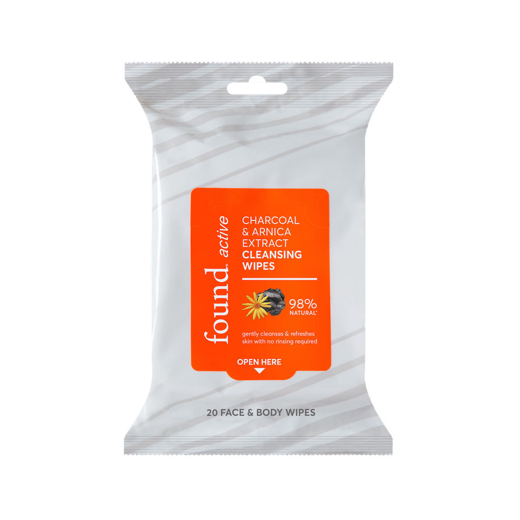 Discover Found | Active Charcoal & Arnica Cleansing Wipes