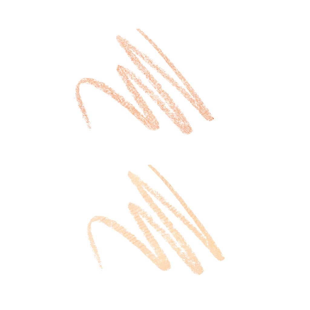 Brow Highlighter Duo Magic Hour and Twinkle shade swatch