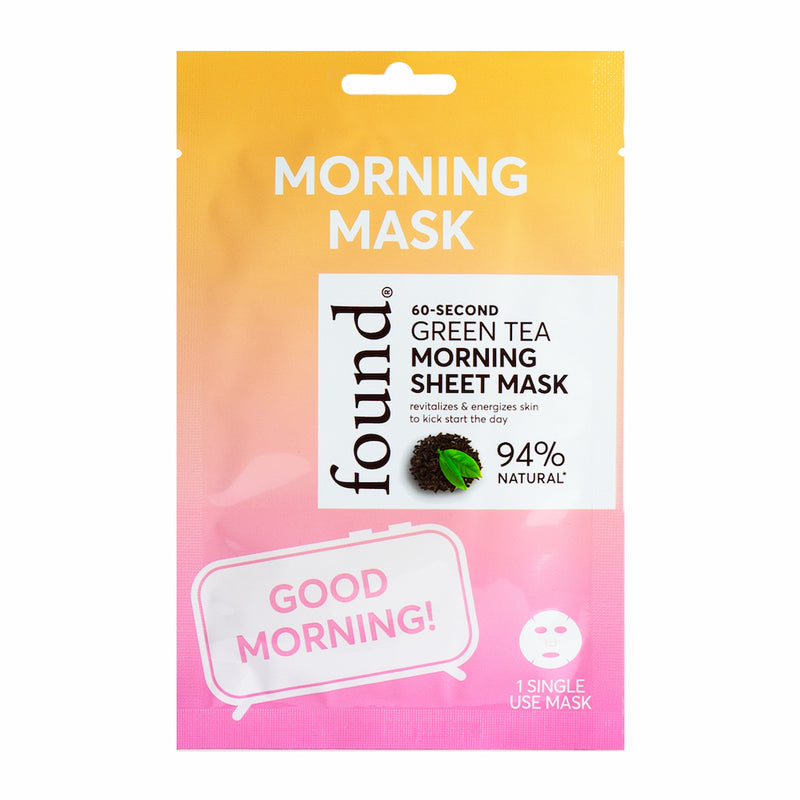 Discover Found | 60 Second Green Tea Morning Sheet Mask