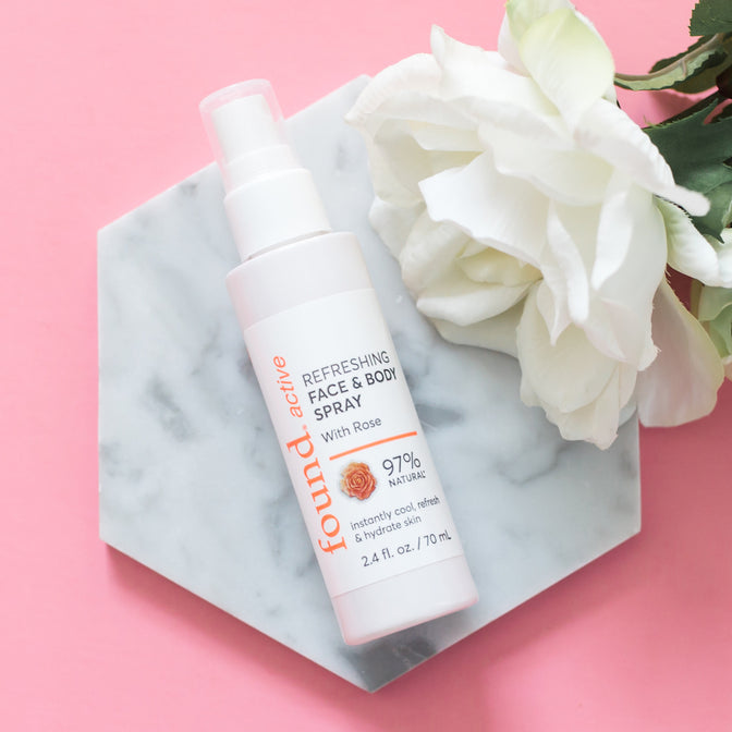 Discover Found | Active Refreshing Face & Body Spray with Rose